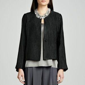 EILEEN FISHER Silk Groove Jacket Grey // Size L